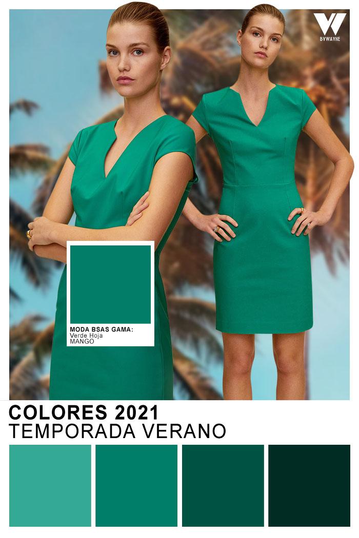 Colores de moda primavera verano 2021 moda colores verde 2021