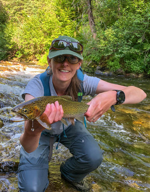 My wife's big westslope cutthroat trout
