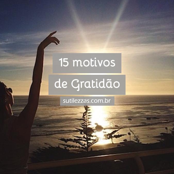 Retrospectiva 2015 - 15 Motivos de Gratidão