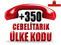 +350 Cebelitarık ülke telefon kodu