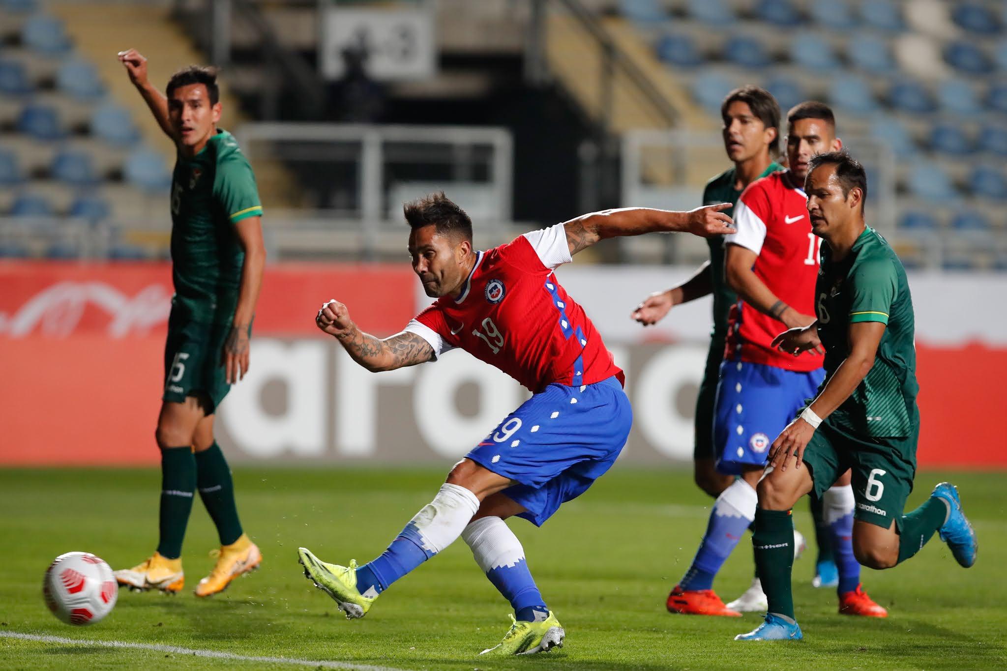 Chile y Bolivia en partido amistoso, 26 de marzo de 2021