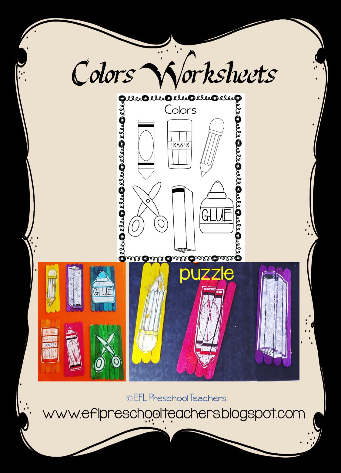 Color And Glue Worksheet
