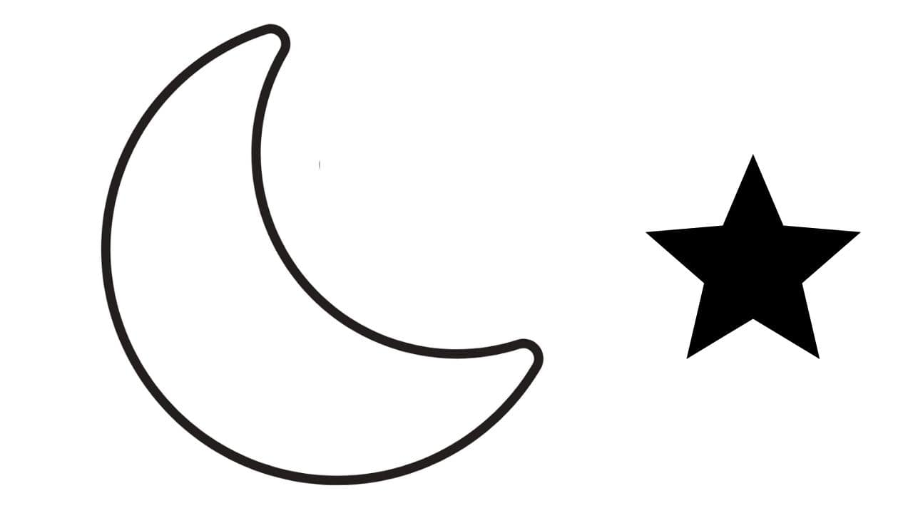 How to make a DIY moon and star decoration for a child's nursery using glitter felt. Easy craft project through which you can learn the blanket stitch