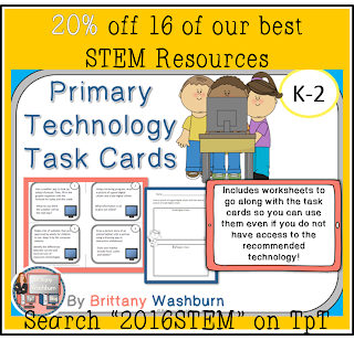 2016 STEM Primary Technology Task Cards