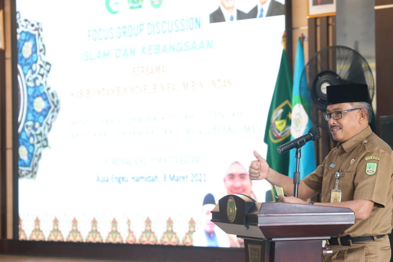 Buka FGD Tentang Islam dan Kebangsaan, Jefridin : Kota Batam Sangat Fokus Dalam Kegiatan Keagamaan
