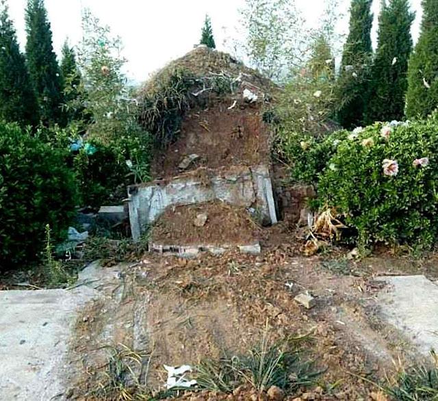 O túmulo profanado do bispo de Luoyang