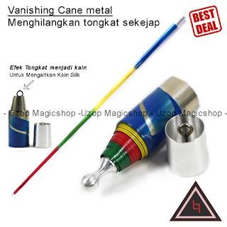 Jual alat sulap Vanishing Cane metal rainbow