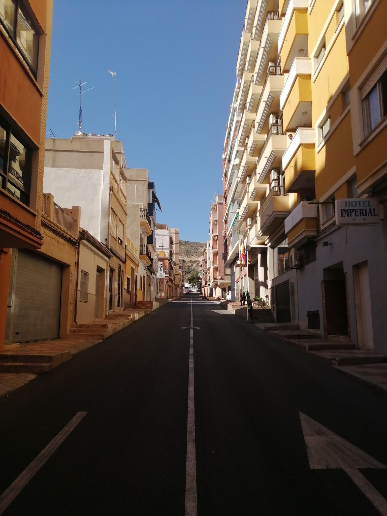 Road to Cullera Castle, Valencia, Spain