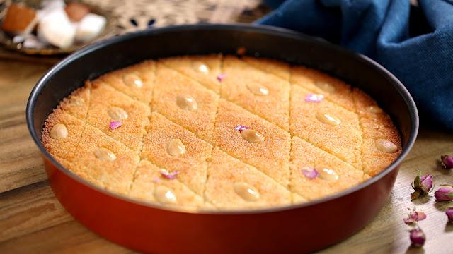 Buttery Basbousa