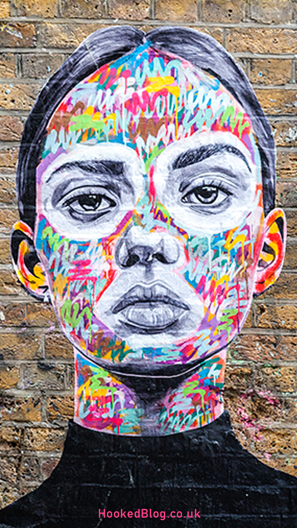 Eye-catching London Street Art by Ant Carver in Brick Lane, London. #streetart #portraits #London