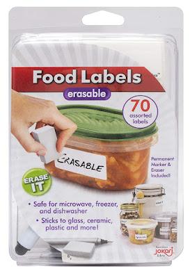 ERASABLE FOOD LABELS