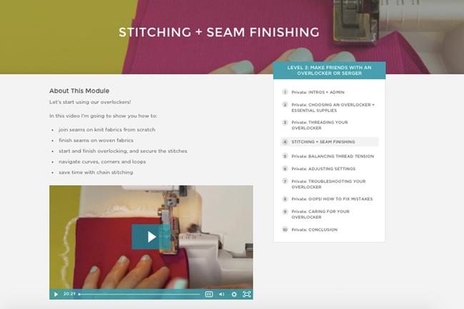 Make Friends with an Overlocker or Serger - online sewing class
