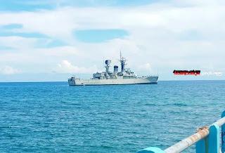 TNI AL Kirim KRI OWA-354 Amankan Presiden RI Di Perairan Kabupaten Sikka