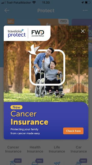 cancer insurance FWD Life x Traveloka
