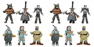 San Diego Comic-Con 2021 Exclusive The Nightmare Before Christmas Minimates Commemorative Box Set by Diamond Select Toys