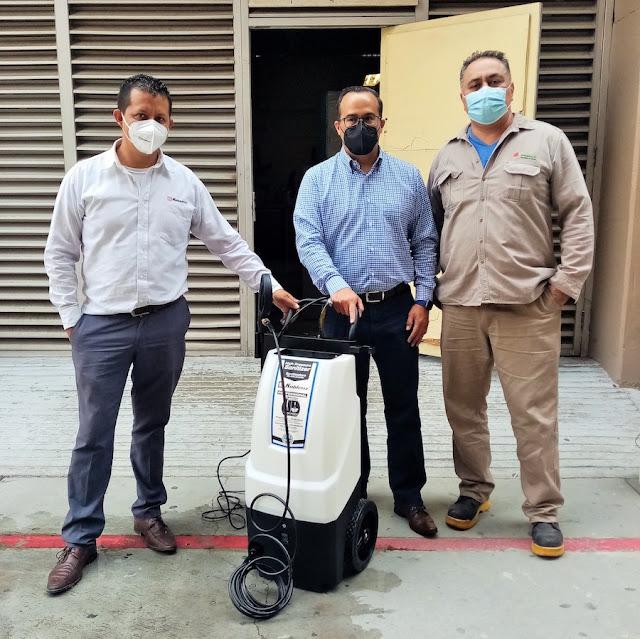 Dona Koblenz sanitizadoras a hospitales de la CDMX