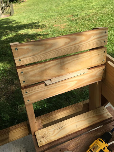 mountain cottage, 2 x 4 bench,  double chair bench, wood project
