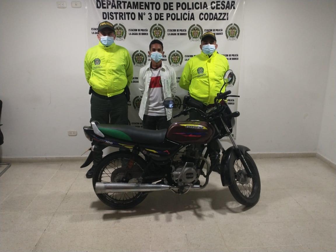hoyennoticia.com, Moto robada en Maicao apareció en La Jagua de Ibirico