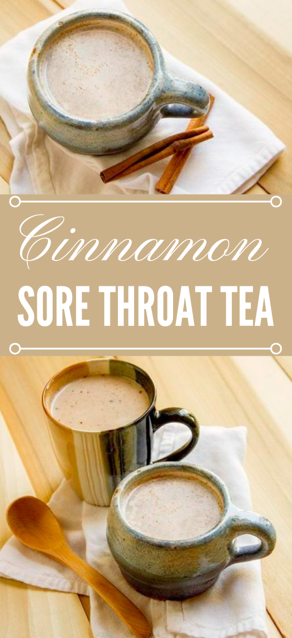 CINNAMON SORE THROAT TEA  #milktea #drink #chocolate #recipes #yummy