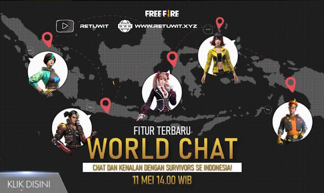 Free Fire Rilis Fitur Chat Terbaru World Chat Survivor Se-Indonesia