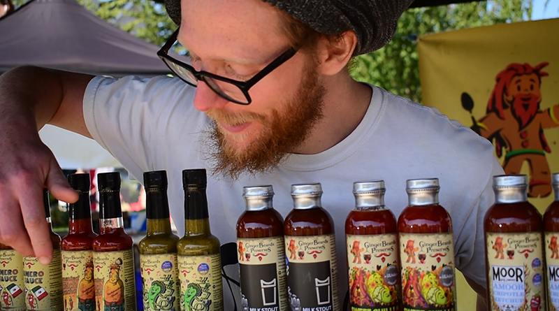 Harry Calvert of Ginger Beard Preserves at the 2020 edition of the eat:Festival, Portishead