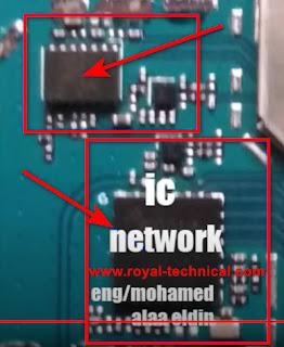 تشريح مسارات واعطال لينوفو A1010a20 مسار الشبكة