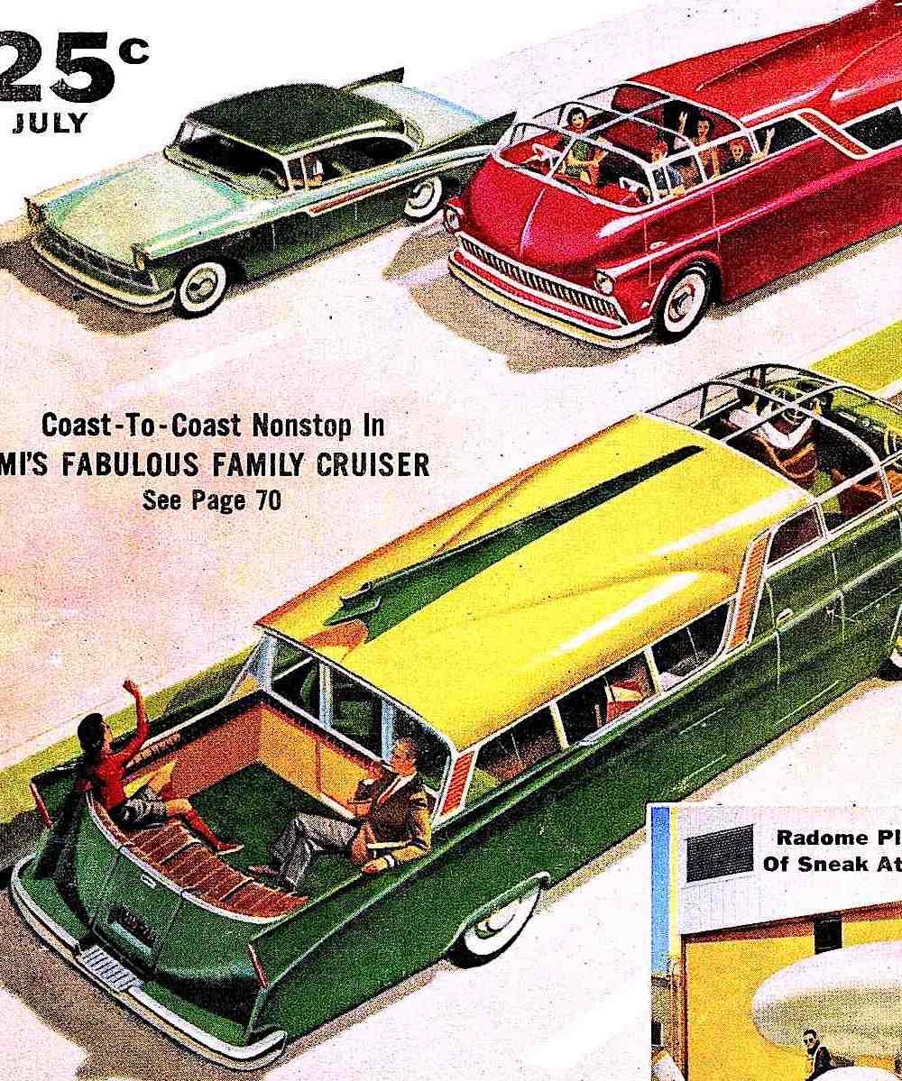 1957 retrofuture car traffic