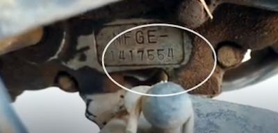 Letak Nomor Rangka dan Nomor Mesin TVS Rock Z