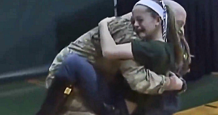 Touching Video Depicts Soldiers Surprising Their Children After Their Deployment