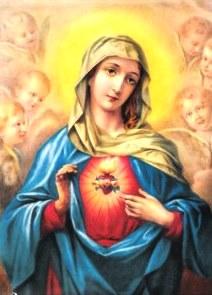 Imagen de la Virgen María mostrando su corazón