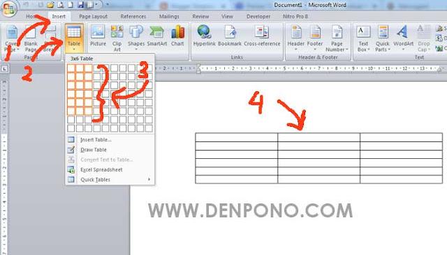 2 Cara Mudah Membuat Tabel di Microsoft Word