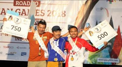 Roni Pratama di Piala Asia II Lintas Alam Paralayang 2017