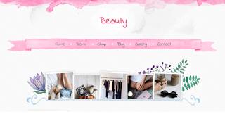 Beauty бесплатный детский шаблон для Blogger 2016