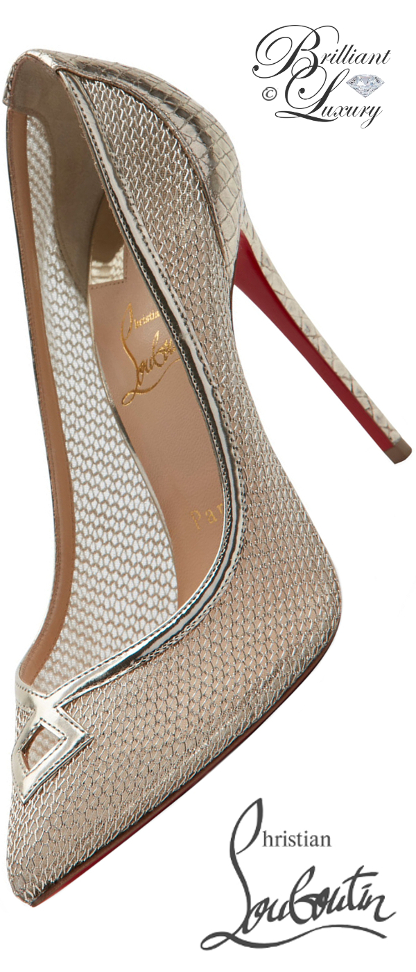 Brilliant Luxury ♦ Christian Louboutin So Kate Neoalto mesh red sole pumps