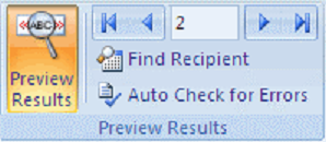 Preview results mail merge