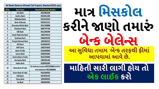All Bank's Number For Check Bank Balance