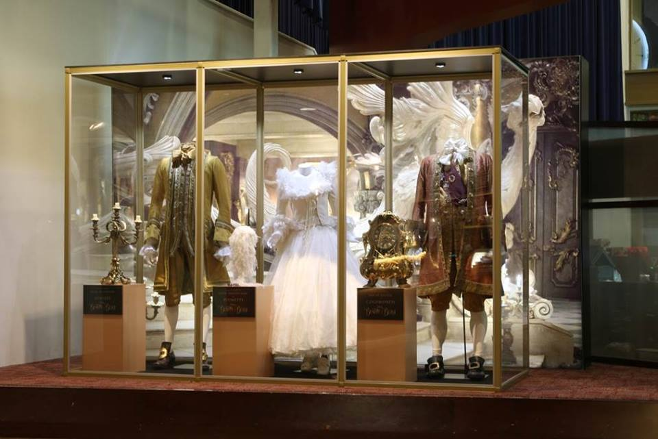 Lumiere Plumette Cogsworth Costumes On Display At ArcLight Cinemas In Pasadena