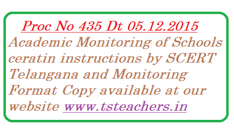 SCERT, Telangana, Hyderabad – Academic monitoring of schools – Meeting with all the RJDSEs, DEOs and Project Officers of the ts-academic-monitoring-of-schools-certain-instructions-scert-telangana SSA by the Director of School Education on 26th November, 2015 – Communication of the minutes of the meeting – Reg.