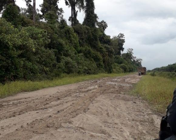 Warga Merbau Minta Jalan Utama Desa Dibangun