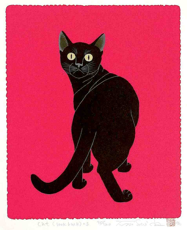 Tadashige Nishida, cat looking back