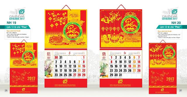 in lịch, lịch treo tường, làm lịch tết, in lịch lò xo, in lịch lò xo giữa, mẫu lịch lò xo giữa