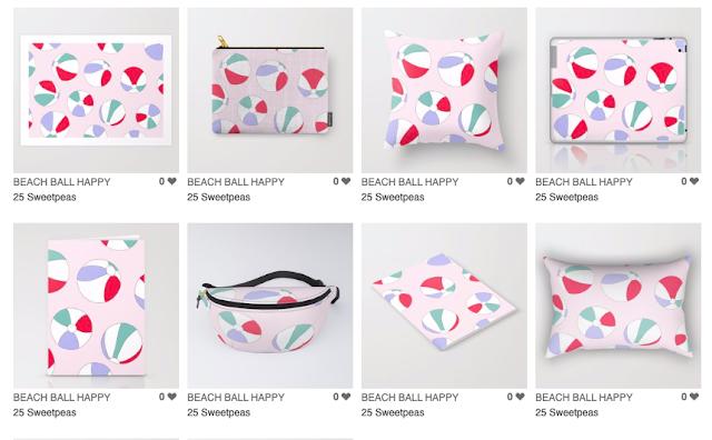 Beach Ball Print Products 25 Sweetpeas