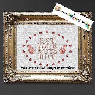 crazy squirrel cross stitch pattern free to download