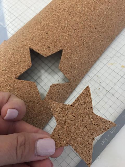 strong grip mat, cork, balsa wood, glitter cardstock, cameo 3