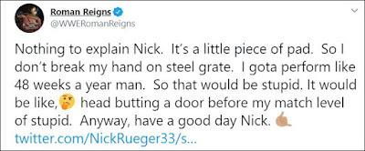 Roman Reigns Tweets About His Entrance