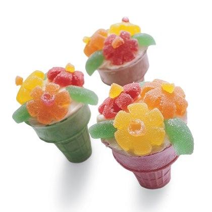 Flower Cupcake in a Cone Recipe