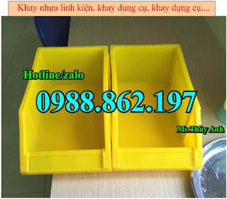 Khay nhựa đựng kim khí, thùng chứa A8, sóng nhựa bít, sóng nhựa đặc, thùng chứa công nghiệp ,Kệ dụng