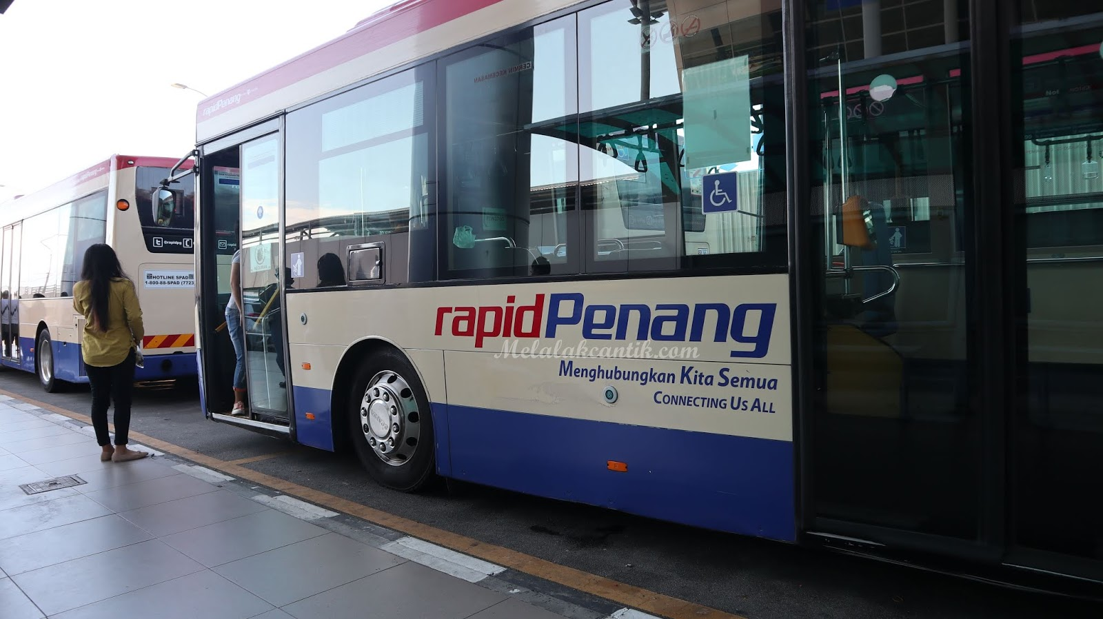 Bus Rapid Bandara Penang ke Downtown (Komtar)