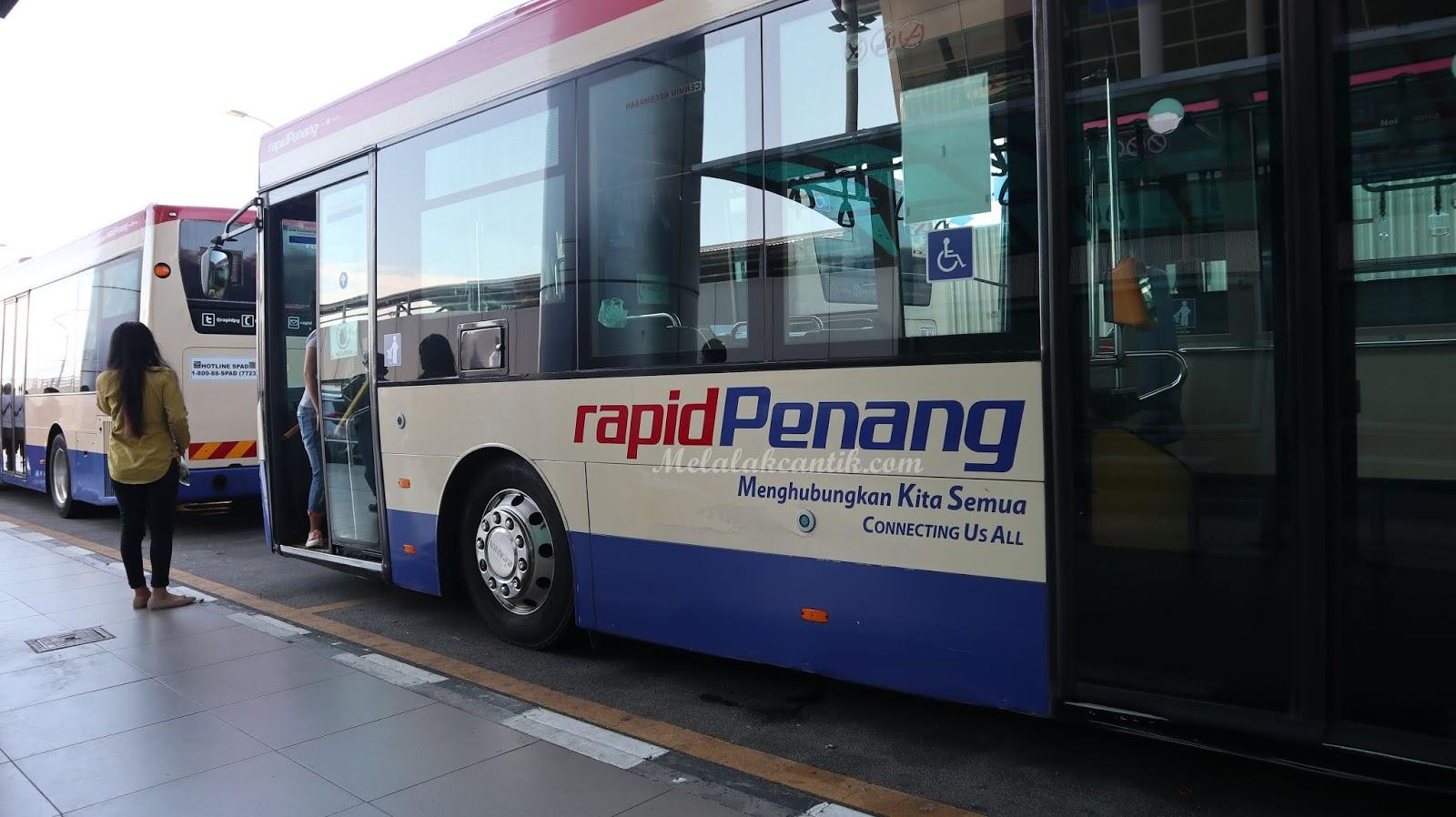 Bus Rapid Bandara Penang ke Downtown (Komtar)