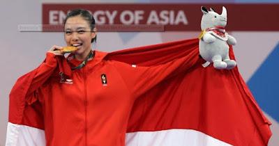 Mantapppp,,, Indonesia Tambah 3 Emas, Ini Perolehan Medali dan Klasemen Asian Games
